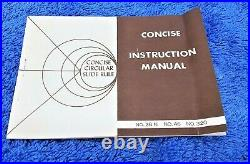 1 Nos Concise Circular Slide Rule Model # 28 N Honeywell Micro Switch