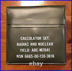 A-bomb nuclear yield circular slide rule MINT