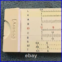 ARISTO SCHOLAR 1960s SLIDE RULE MATH / ENGINEERING MADE IN GERMANY NEW IN BOX