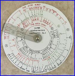 Atomic Burst / Nuclear Blast Slide Rule AERE Water Contamination Calculator