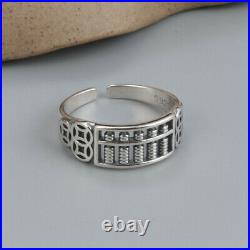 B35 Ring Abacus Circle Mathematics Slide Rule 925 Sterling Silver