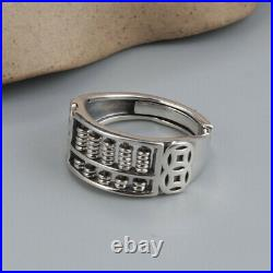 B35 Ring Abacus Circles Mathematics Slide Rule 925 Sterling Silver
