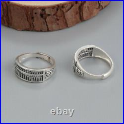 B35 Ring Abacus Circles Mathematics Slide Rule 990 Fine Silver