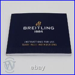 Breitling 1884 BLUE Instructions Booklet & Slide Rule Instructions NEW STYLE