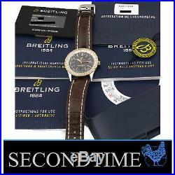 Breitling Navitimer Automatic 41mm Steel 18kt Rose Gold Bezel Anthracite Dial
