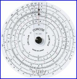 CONCISE Ruler Circular Slide Rule 300 from Japan Diameter 110mm Brand New