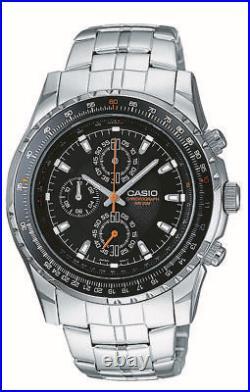 Casio Men's MTP4500D-1AV Slide Rule Bezel Aviator Stainless Steel Watch. New