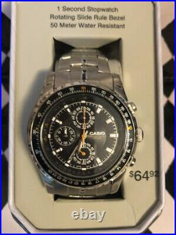 Casio Mens Stainless Steel Watch Chronograph 50 Meter WR MTP4500D-1TN New In Box