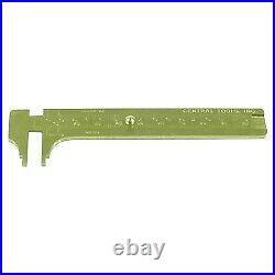 Central Tools 6506 Solid Brass Slide Rule Caliper 0-4 0-100mm