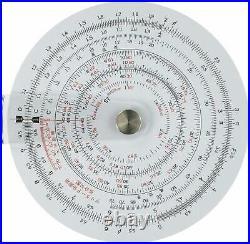 Concise ruler circular slide rule