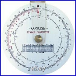 Concise ruler circular slide rule Stadia calculator 100850