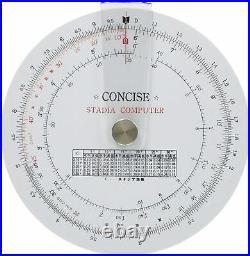 Concise ruler circular slide rule Stadia calculator 100850 F/S