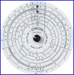 Concise slide rule ruler circular 270N 100812 from Japan