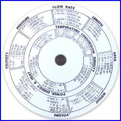 Concise slide rule ruler circular 28N 100973 English Ver. From Japan