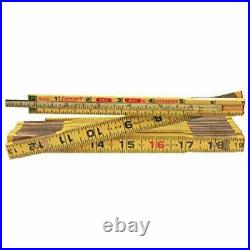 Crescent Lufkin 5/8 x 8' Red End Wood Rule with 6 Slide Rule Extension X48N