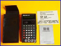 DATAMATH CALCULATOR MUSEUM Compex SR-40 RARE SLIDE RULE NEW-IN-BOX