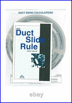 DUCT CALCULATION SLIDE RULE By P. E. & Air Conditioning Contractors Of America