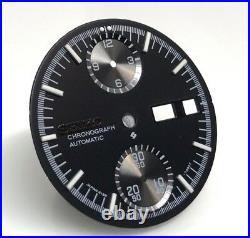 Dial for Seiko Chronograph Watch 6138 7000 Slide Rule Chrono Calculator Black