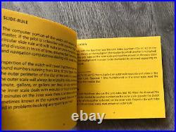 Genuine Breitling Navitimer Slide Rule Instructions Brand New