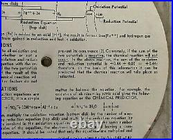 Graphic Chemical Predictor Circular Slide Rule 1958 Dyna-Slide Company Chemist