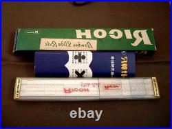 Green Box Showa Retro Slide Rule Ricoh No. 105 Bamboo Dead Junk
