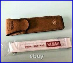 Hemmi Bamboo Slide Rule Vintage No. 35 with Case Excellent (New Old Stock)