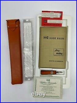 K&E 68-1210 Log Log Duplex Decitrig Slide Rule Keuffel & Esser NIB 1955