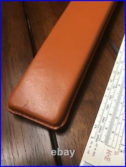 Keuffel & Esser Co Jet Log Slide Rule 68-1251 &Leather Case Excellent Condition