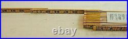 Lufkin Hi-Viz 8-ft Red-End Wooden Folding Ruler with6-in Slide Rule, p/n LUFKIN-8