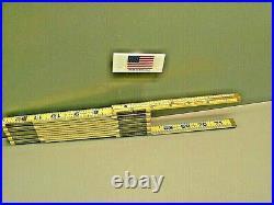 Lufkin X46 6' Red End Wood Folding Rule Brass Slide New USA
