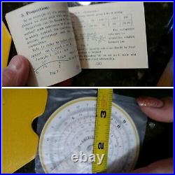 Magnificent Vintage Circular Concise No. 28N Slide Rule Yellow Case Japan