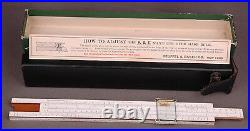 Mannheim Type Slide Rule 4053-Keuffel Esser Co New York-Pat1934232-Leather Case