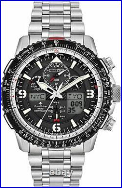 NEW Citizen Eco-Drive Promaster Black Dial Skyhawk Chronograph Watch JY8070-54E