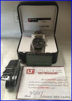 NEW Lum-Tec Combat B series B44 Camo Quartz watch DEALER WARRANTY