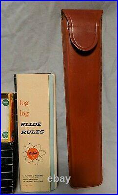 NEW OLD STOCK Vintage Pickett N803-ES Slide Rule With Case, Box & Paperwork