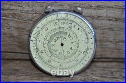 NEW Vintage Russian USSR Logarithmic Mathematical Circular Slide Rule KL-1 1968