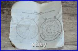 NEW Vintage Russian USSR Logarithmic Mathematical Circular Slide Rule KL-1 1968