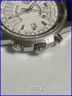 NIB ORIENT Automatic Perpetual Calendar, Slide rule Watch. Two Strap Options