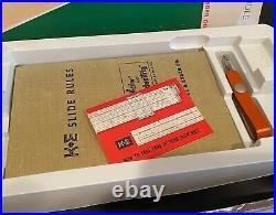 NOS K&E Keuffel & Esser LOG LOG DUPLEX DECITRIG SLIDE RULE 68 1210 SET NIB VTG