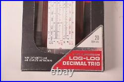 NOS NEW Acu-Math No. 1311 Log Log Decimal Trig Slide Rule CV Tools box + Holder