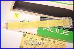 NOS NEW Vintage Pickett Slide Rule N902-ES with Box & Case 10 Simplex Trig Rare