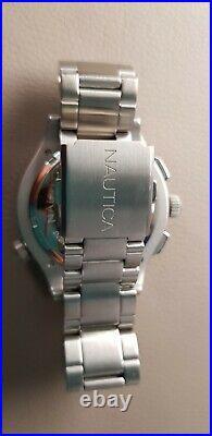 Nautica classic Pilots watch, new, slide rule bezel, full working chronograph
