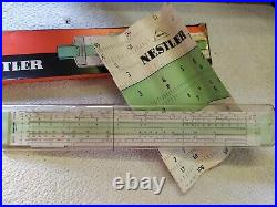 Nestler No. 0254 Slide Rule Rechenschieb Brand New, Never Used