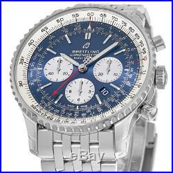 New Breitling Navitimer 1 B01 Chronograph 46 Blue Men's Watch AB0127211C1A1