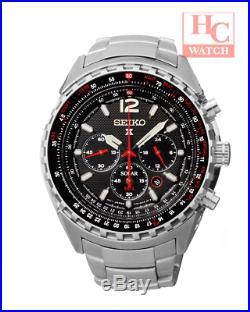 New Seiko Prospex Sky Solar SSC261P1 Chrono Sapphire 100m Men's Pilots Watch