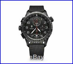 New Victorinox AirBoss Mach 9 Black Edition Men's Chronograph Watch 241716