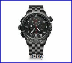 New Victorinox AirBoss Mach 9 Black Edition Men's Chronograph Watch 241742