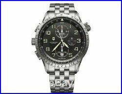 New Victorinox AirBoss Mechanical Mach 9 Black Dial Men's Watch 241722