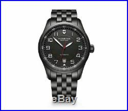 New Victorinox AirBoss Mechanical Stainless Steel Black Dial Men's Watch 241740