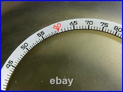 Nos Breitling Chrono Matic Slide Rule Inner Bezel 1806 1970s